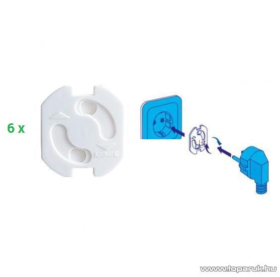HOME NV 10 Konnektorvédő vakdugó szett (gyermekvédő), fehér, 6 db / csomag