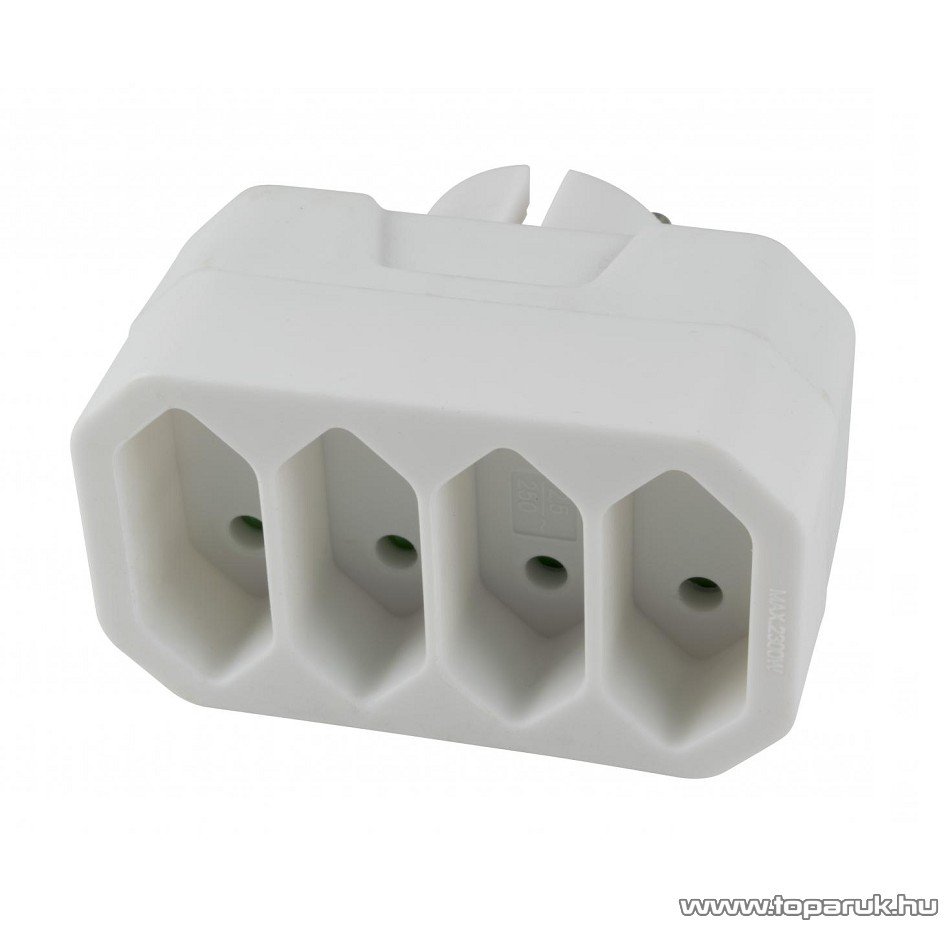 HOME NV 24/WH Kapcsoló nélküli hálózati aljzat elosztó, Euro elosztó, 4 db euro aljzat