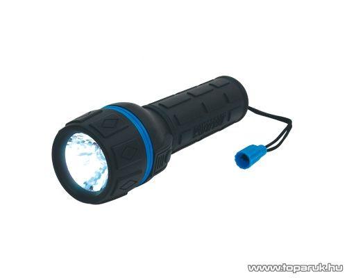 HOME PLR 02 Vízálló gumírozott elemlámpa, kék
