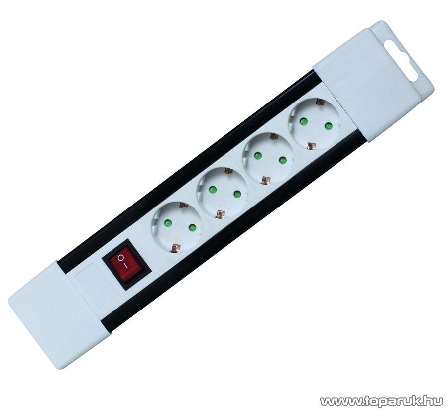 HOME PNV 04K/WH 4-es hálózati elosztó kapcsolóval, 2 m, fehér