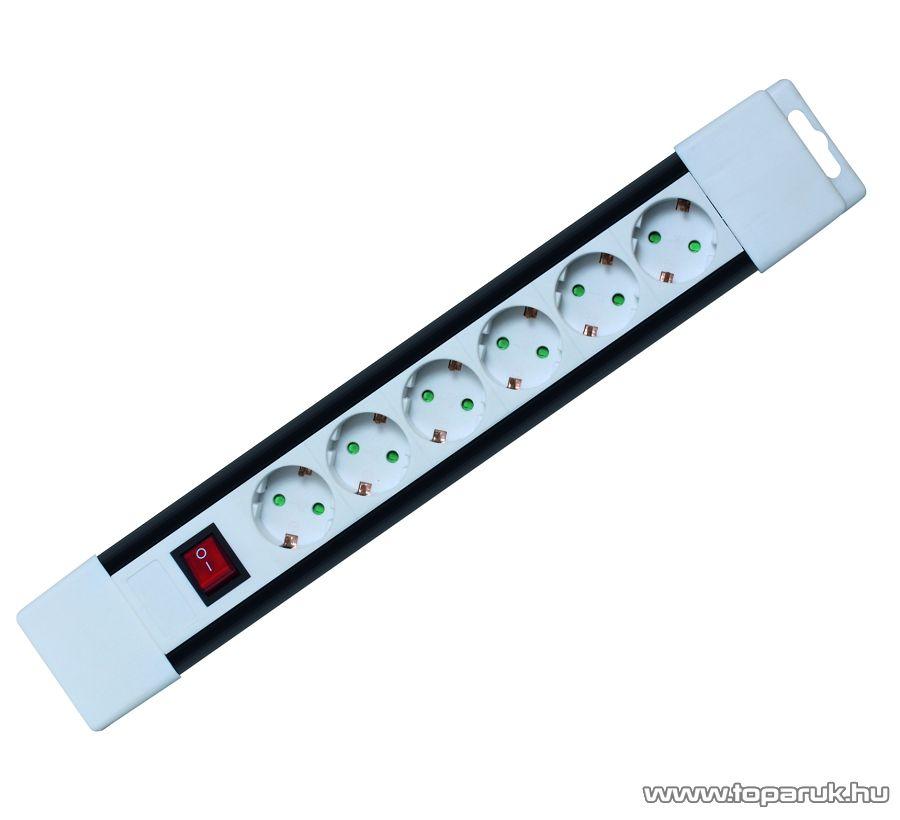 HOME PNV 06K/WH 6-es hálózati elosztó kapcsolóval, 2 m, fehér