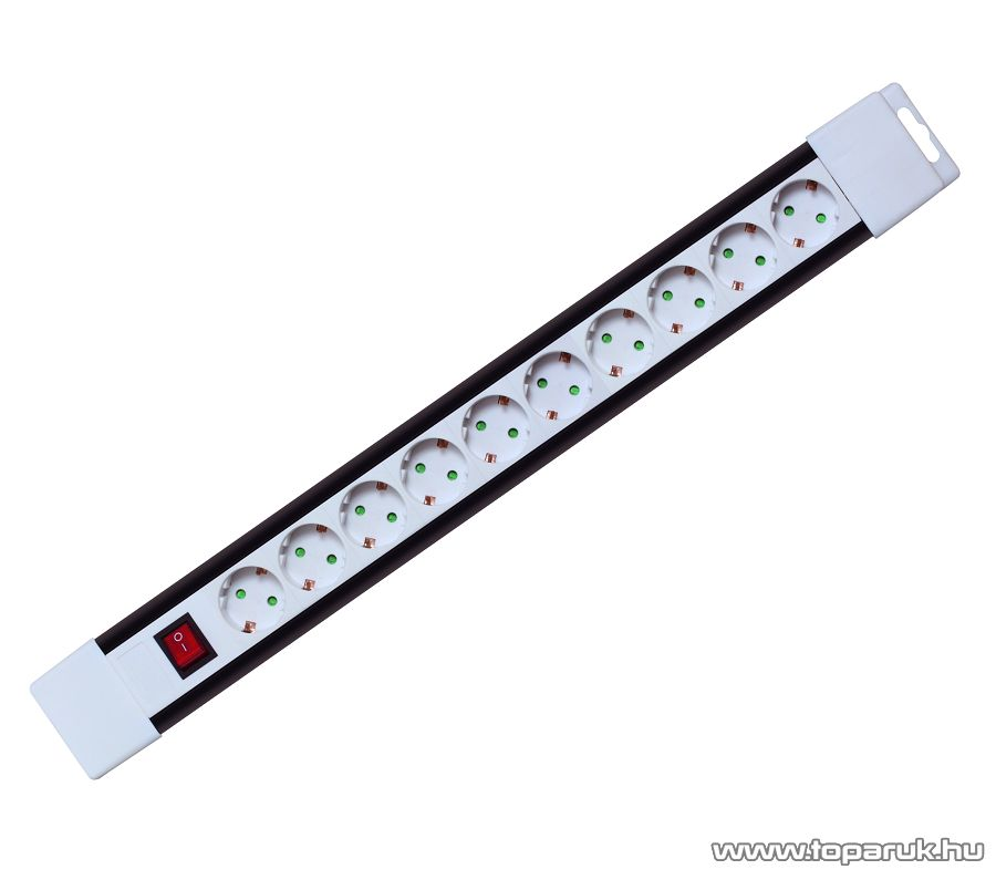 HOME PNV 10K/WH 10-es hálózati elosztó kapcsolóval, 2 m, fehér