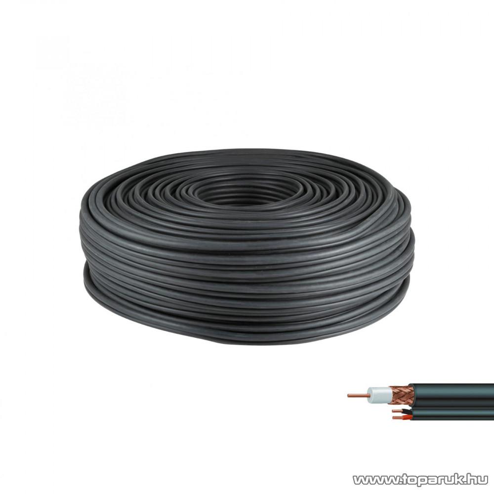 HOME RG 59 + NAP Koax kábel tápkábellel, 100 fm / tekercs
