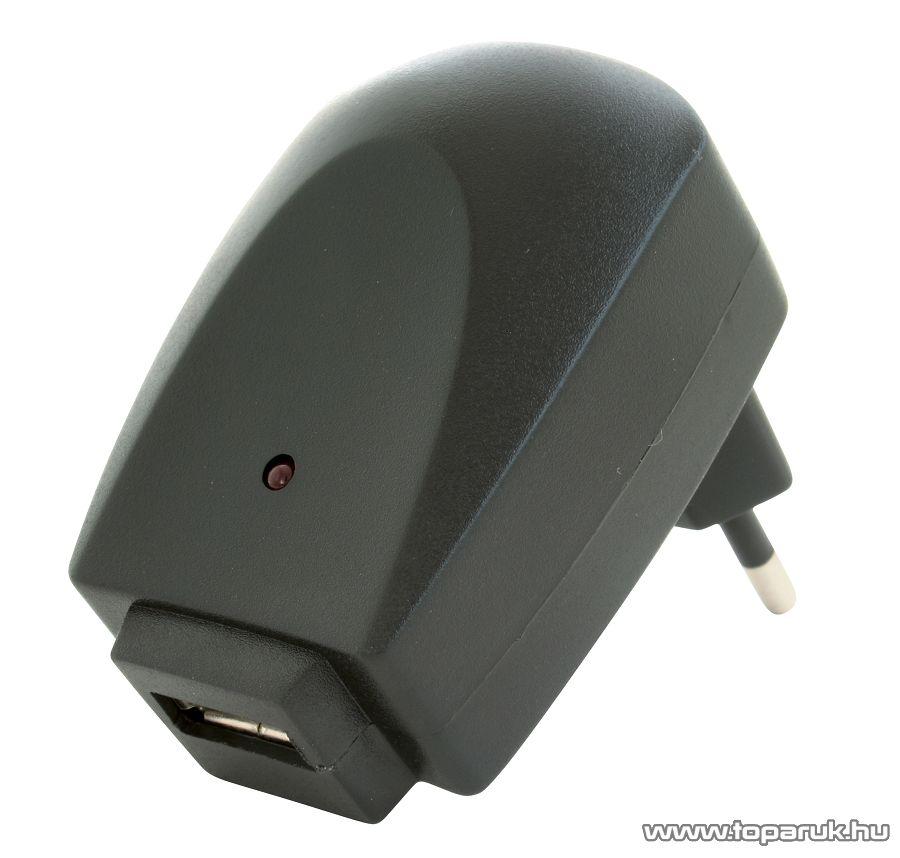 HOME SA 1000USB USB hálózati adapter, töltő (max. 1000 mA), fekete