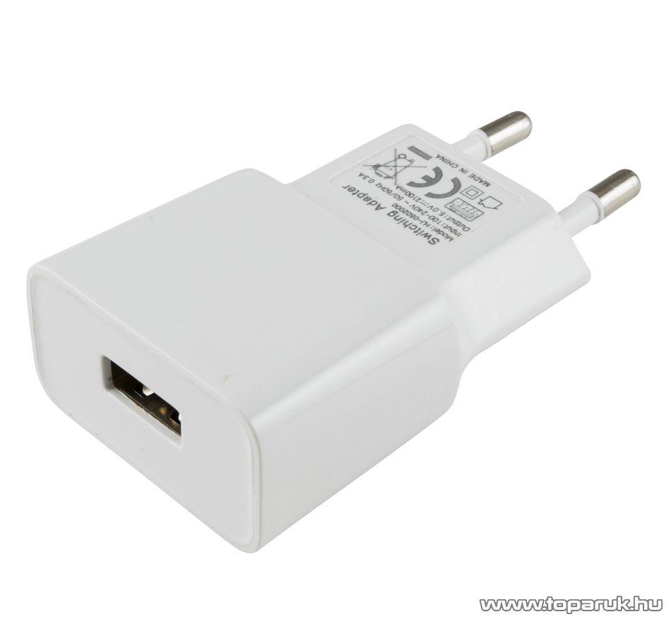 HOME SA 2100USB USB hálózati adapter, töltő (max. 2100 mA), fehér