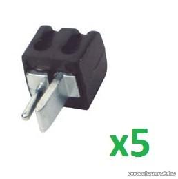 HOME SL 1S/BK Lengő hangszóródugó, fekete, 5 db / csomag