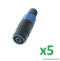 HOME S 1087 - 4 pólusú lengő Speakon aljzat, 3 db / csomag - megszűnt termék: 2015. március