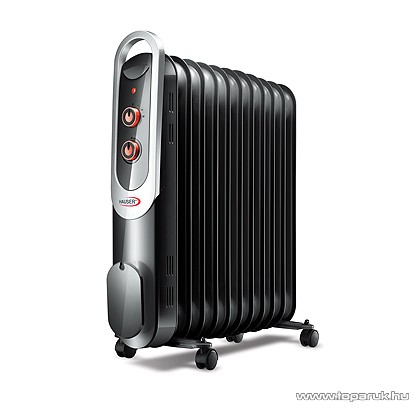 Hauser OR-1113 Olajradiátor, termosztát szabályozással, 11 tag, fekete, 2200 W