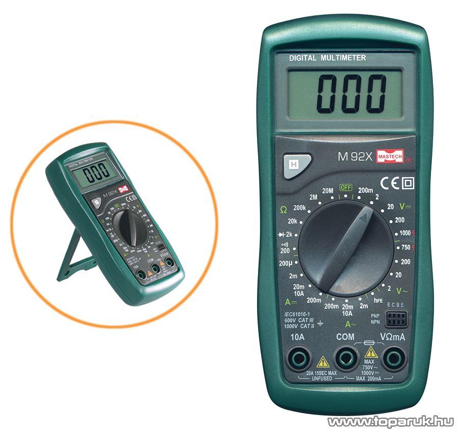 MASTECH M 92X Digitális multiméter - megszűnt termék: 2015. február