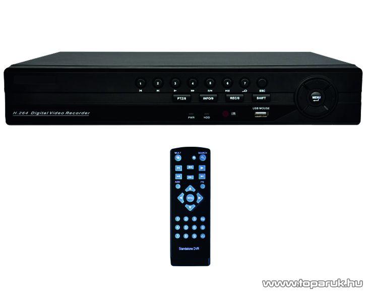 PROSTO DVR-8408AVL merevlemezzel bővíthető digitális videórögzítő