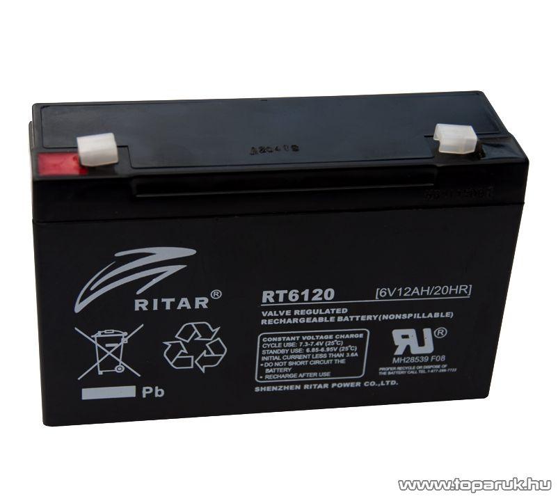 RITAR APC Kompatibilis zselés tápegység, szünetmentes akkumulátor, 6V, 12Ah (RT 6120)