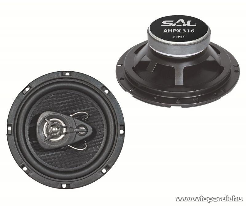 SAL AHPX 316 Autóhangszóró-pár, 3 utas, 4 Ohm, 165 mm, 180W-os