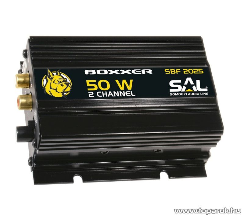 SAL BOXXER SBF 2025 Univerzális autós erősítő, 50W-os, 2 csatornás erősítő