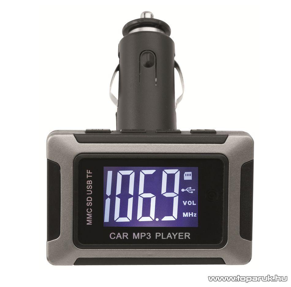 SAL FMT 10 szivargyújtó csatlakozós FM modulátor és zenelejátszó autórádiókhoz