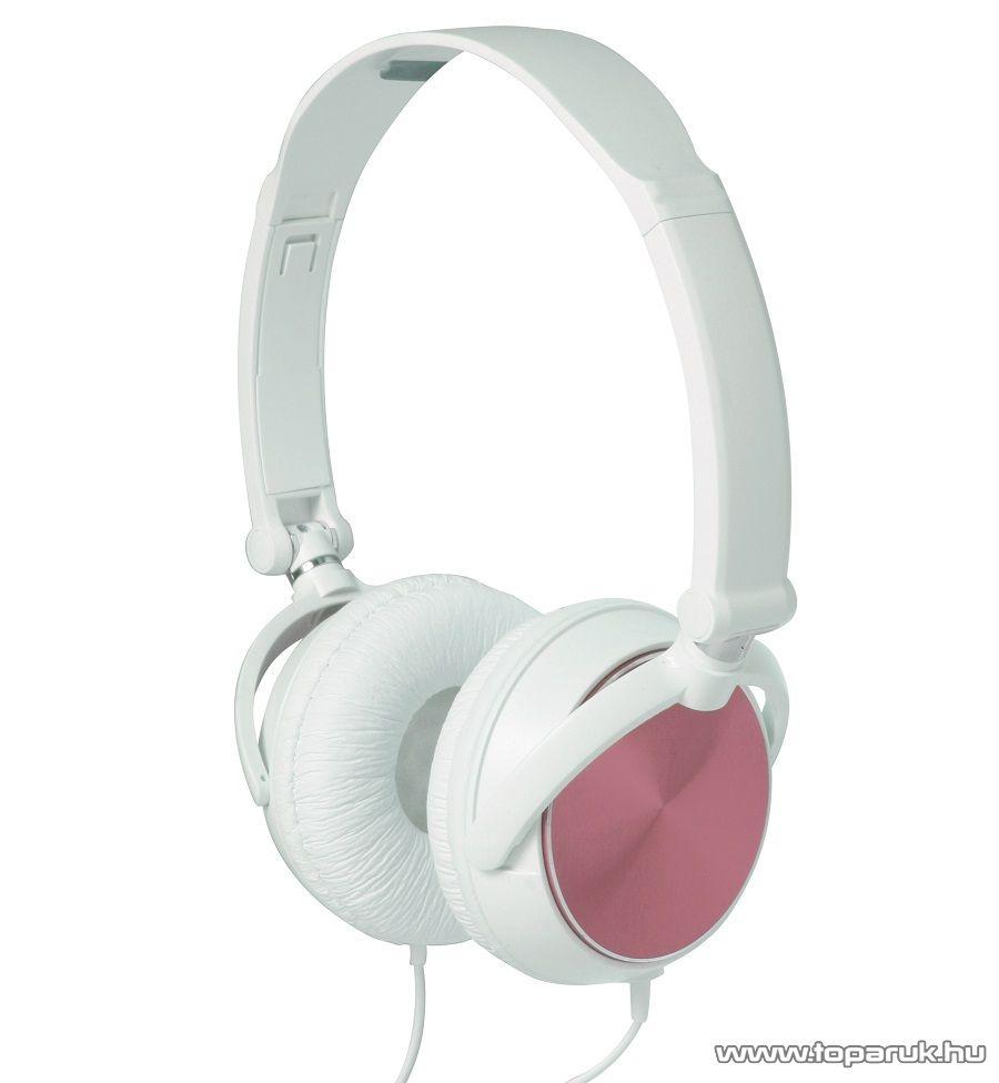 SAL HPH 5/P PINK Sztereó összecsukható fejhallgató, rózsaszín