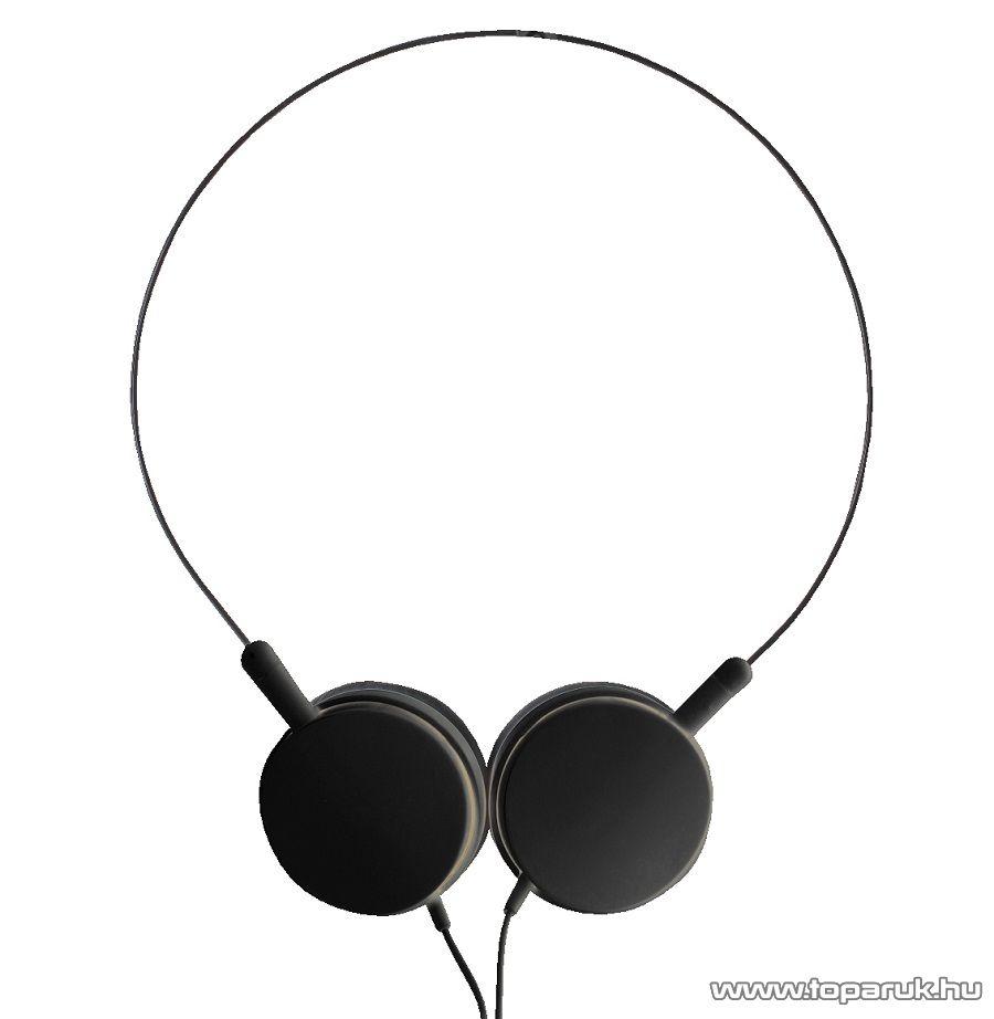 SAL HPH 6/BK BLACK Behajtható kivitelű sztereó fejhallgató, fekete