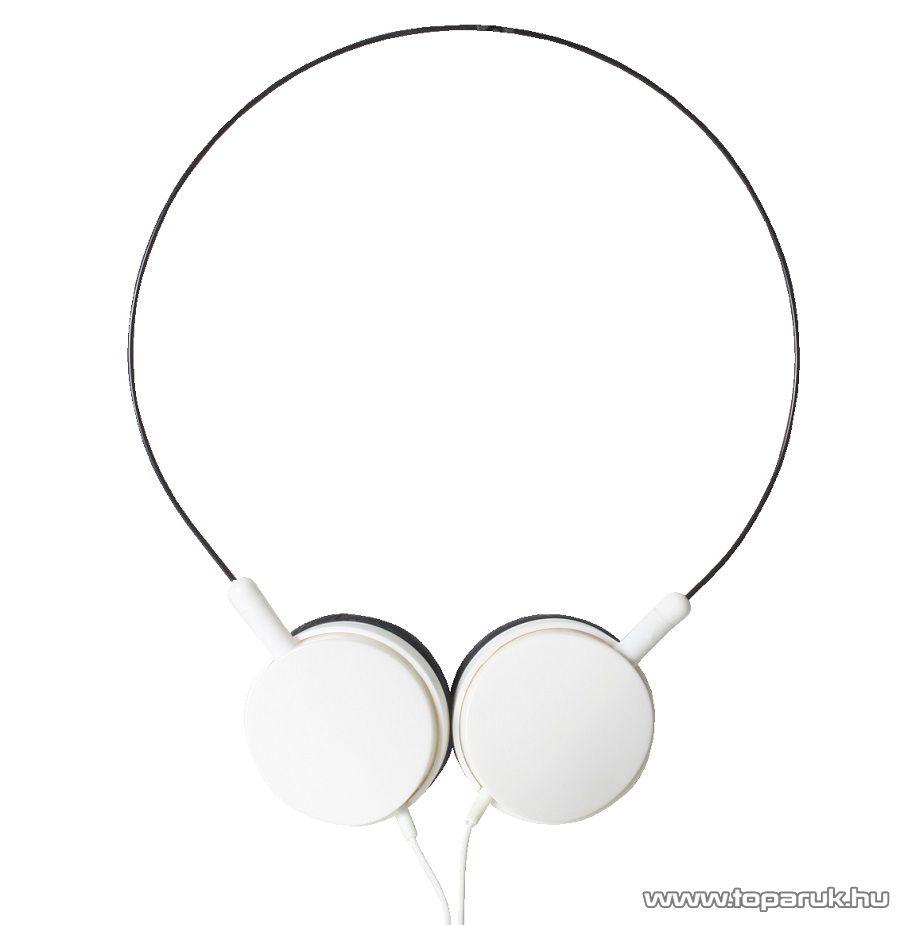 SAL HPH 6/WH WHITE Behajtható kivitelű sztereó fejhallgató, fehér