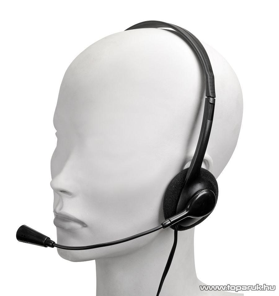 SAL HPM 1 Multimédiás sztereo fejhallgató mikrofonnal
