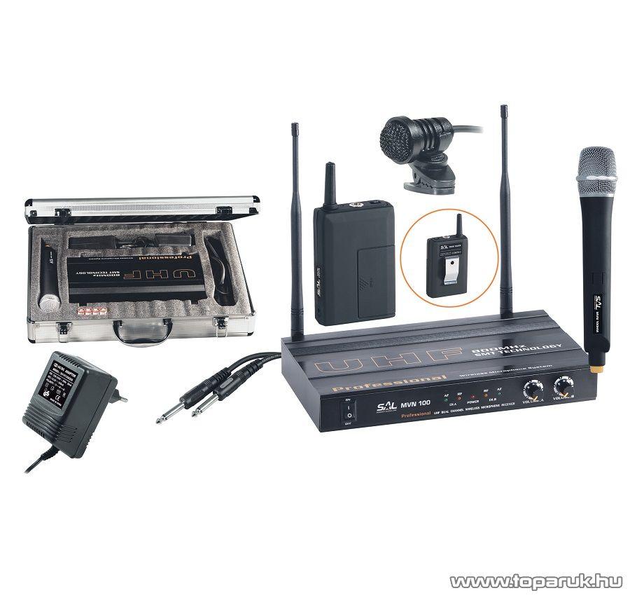 SAL MVN 100 Vezeték nélküli mikrofon szett - megszűnt termék: 2015. szeptember
