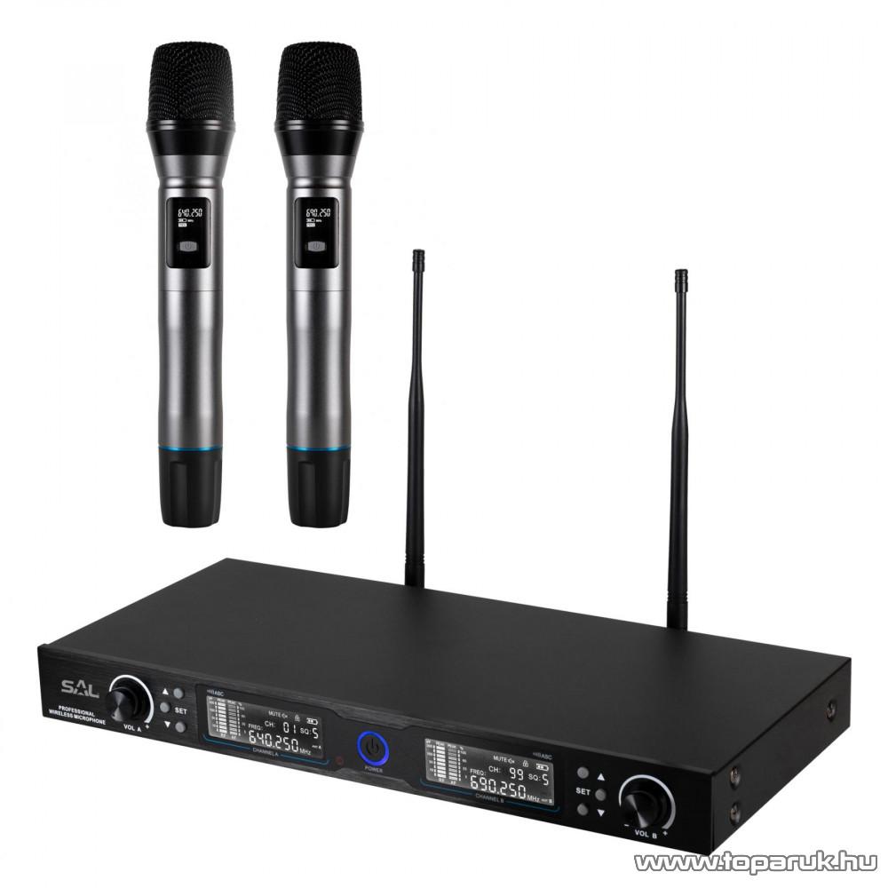 SAL MVN 900 Vezeték nélküli mikrofon szett, alumínium tároló bőrönddel