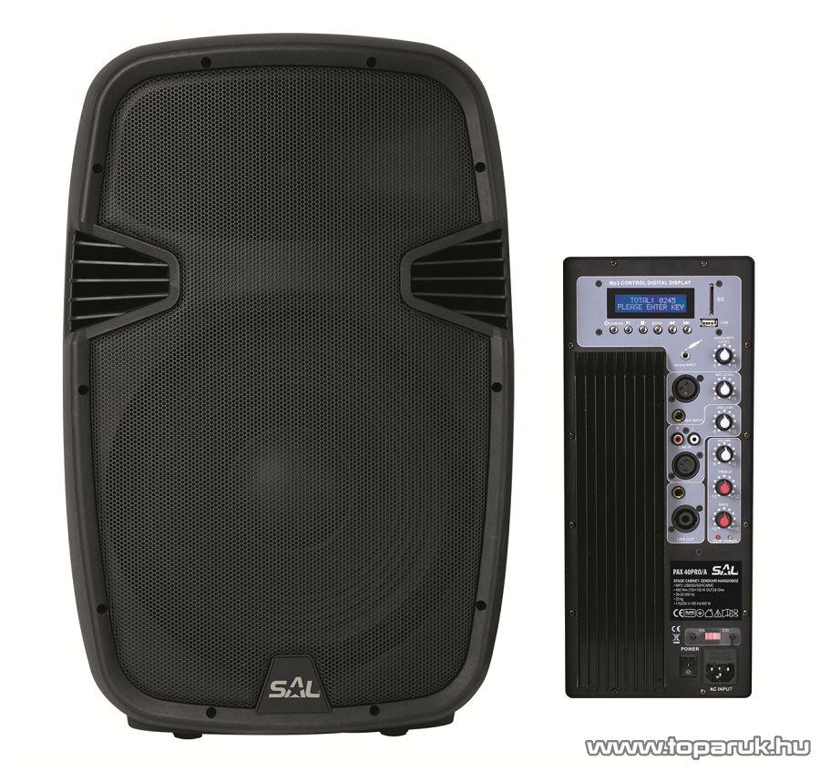 SAL PAX 40PRO/A Aktív zenekari hangdoboz, 400 mm