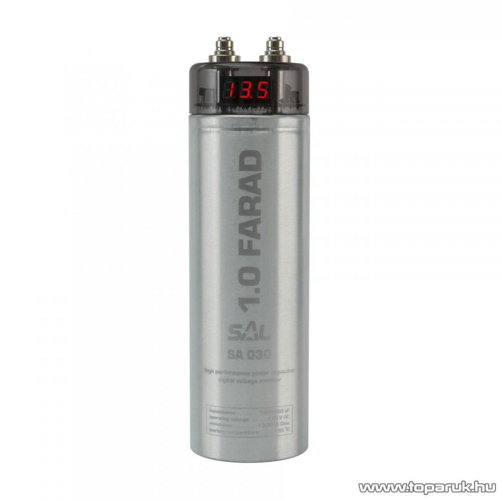 SAL SA 030 Autó-hifi tápkondenzátor, 1 Farad, 18/20 VDC