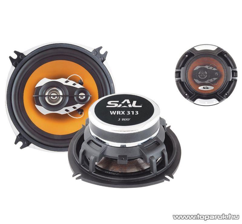 SAL WRX 313 Autóhangszóró-pár, 3 utas, 4 Ohm, 130 mm, 180W-os