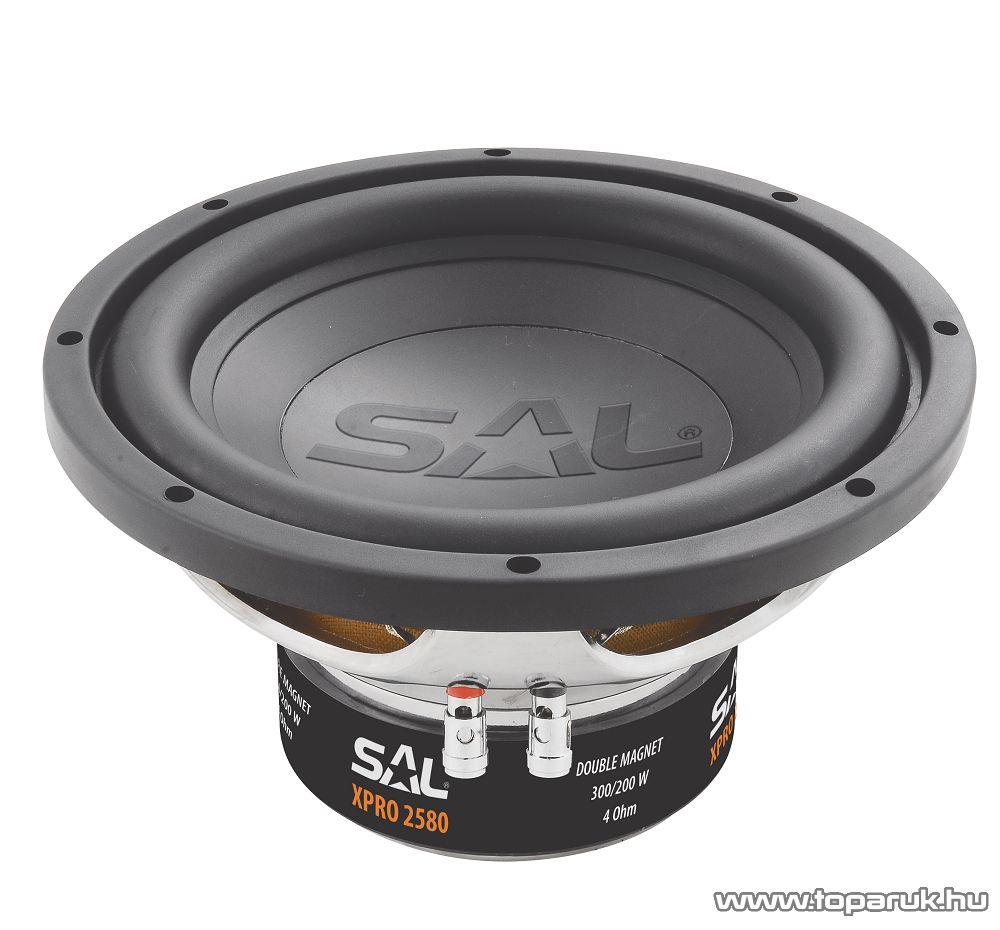 SAL XPRO 2580 Beépíthető autós mélysugárzó, 250mm, 4 Ohm, PP, 300W-os - megszűnt termék: 2015. november