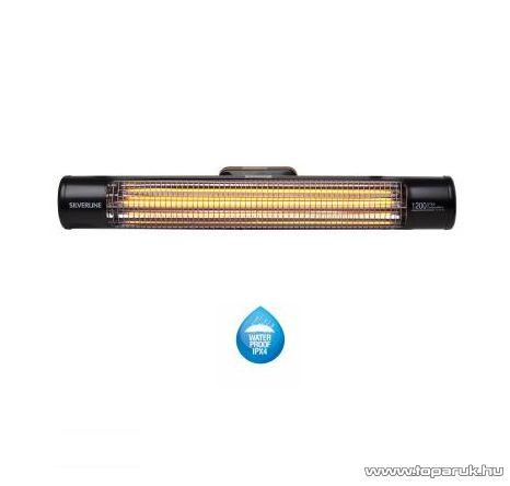SILVERLINE Comfort Heater 1200 IN 26106 Kültéri fali fűtőtest, hősugárzó, fekete, 900 W