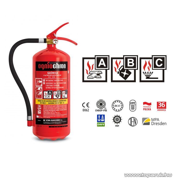 Ogniochron MK 02297 ABC Porral oltó tűzoltó készülék, 2 kg