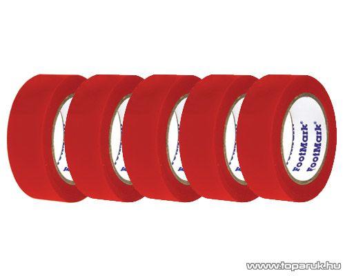 SMA SS 210 Szigetelőszalag, 10 m, piros, 5 tekercs / csomag