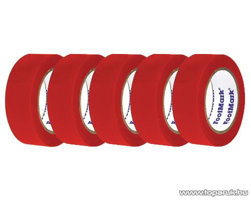 SMA SS 220 Szigetelőszalag, 20 m, piros, 5 tekercs / csomag