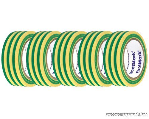 SMA SS 920 Szigetelőszalag, 20 m, zöld-sárga, 5 tekercs / csomag