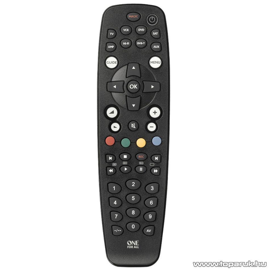 One For All URC 2981 Tanítható univerzális TV távirányító, LCD, LED és plazma televíziókhoz, 8 in 1 - megszűnt termék: 2016. szeptember