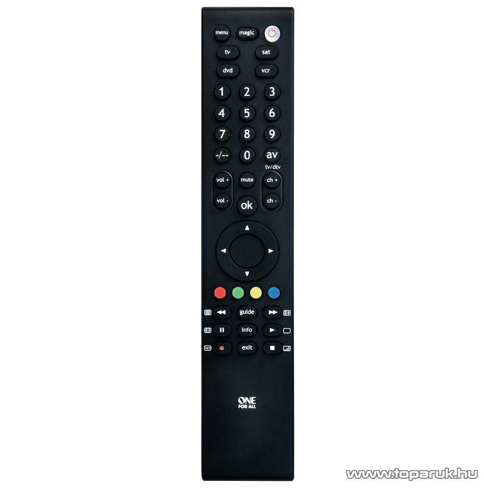 One For All URC 3940 Tanítható univerzális TV távirányító, LCD, LED és plazma televíziókhoz, 4 in 1