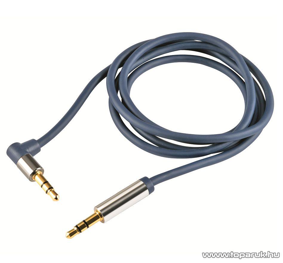 USE A 51-1M Audió kábel, 3,5mm sztereó fém dugó - 3,5mm sztereó fém dugó, 1 m