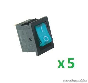 USE AKV 04 Világítós billenőkapcsoló, 1 áramkör - 2 állás, 12 V, kék, 5 db / csomag