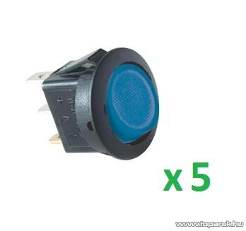 USE AKV 14 Világítós billenőkapcsoló, 1 áramkör - 2 állás, 12 V, kék, 5 db / csomag