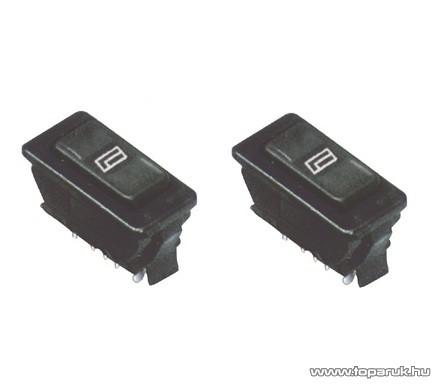 USE AKV 62 Világítós billenőkapcsoló, 2 áramkör - 3 pozíció, 12 V-os, 2 db / csomag