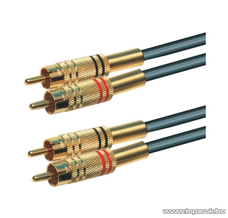 USE A 3GM Audio RCA kábel 2 x RCA dugó - 2 x RCA dugó, 1,5 m - megszűnt termék: 2015. február