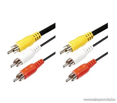 USE A 4-3X Audio RCA kábel 3 x RCA dugó - 3 x RCA dugó, 3 m, 1 db