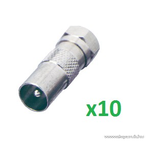 USE FF 16/ST - F dugó - koax dugó, 10 db / csomag