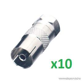 USE FF 17/ST - F dugó - koax alj átalakító, 10 db / csomag