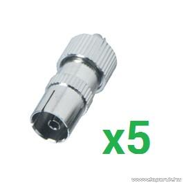 USE FS 15 TV koax aljzat csatlakozó, fém kivitel, 5 db / csomag