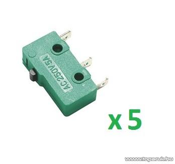 USE MSW 11 Mikrokapcsoló, 1 áramkör - váltó - ON - (ON), 250 V, 5 db / csomag