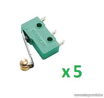 USE MSW 13 Mikrokapcsoló, 1 áramkör - váltó - ON - (ON), 250 V, 5 db / csomag