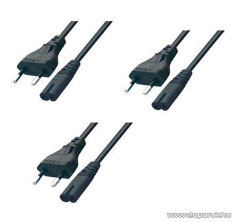 USE N 11/VDE Hálózati csatlakozókábel, 1,5 m hosszú, 3 db / csomag