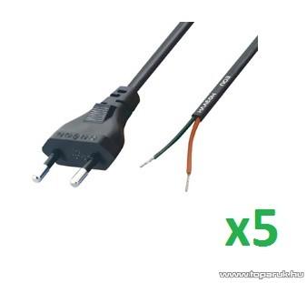 USE N 2/VDE Hálózati csatlakozó, 1,5 m hosszú, 5 db / csomag