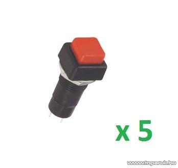 USE SP 11/RD Záró nyomógomb, 1 áramkör, záró - OFF - (ON), 250 V, piros, 5 db / csomag