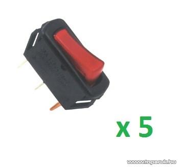 USE STV 03 Világítós billenőkapcsoló, 1 áramkör - 2 állás, 250 V, piros, 5 db / csomag